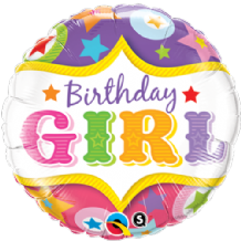 "Birthday Girl Circus Foil Balloon (18"") 1pc"